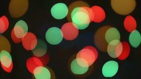 Centelleo de las luces de Bokeh almacen de metraje de vídeo