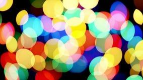 Centelleo de las luces de Bokeh metrajes