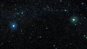 Centelleo estrellado colorido del cielo en el fondo V3 del movimiento de Loopable de la noche almacen de metraje de vídeo