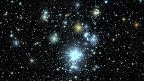 Centelleo estrellado colorido del cielo en el fondo V4 del movimiento de Loopable de la noche libre illustration