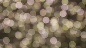 Centelleo festivo de la chispa de la Navidad de oro del oro del fondo de Bokeh almacen de video