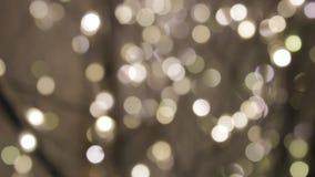 Centelleo festivo de la chispa de la Navidad de oro del oro del fondo de Bokeh metrajes