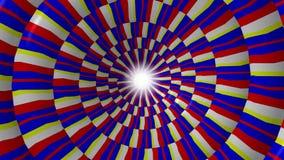 Centelleo hipnótico, animación inconsútil del lazo ilustración del vector