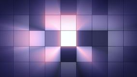 Centelleo ligero de los cuadrados del fondo Atmósfera del club brillo Foto de archivo