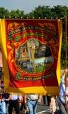 Centenário da união nacional da área de Yorkshire dos mineiros fotos de stock