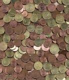 centen coins euroeuropeanen Royaltyfri Bild