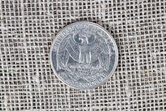 25 centen, Eagle royalty-vrije stock foto's