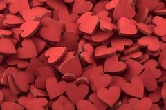 Centenares de pequeños corazones rojos Fotos de archivo libres de regalías
