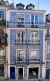 Centenary facade in a old house in Lisbon, Portugal, Europe Royalty Free Stock Photo
