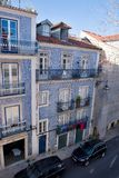 Centenary facade in a old house in Lisbon, Portugal, Europe Royalty Free Stock Photos