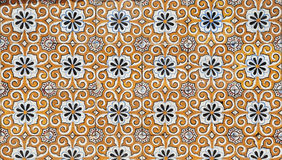 Centenary facade in a old house, mosaic detail Royalty Free Stock Images