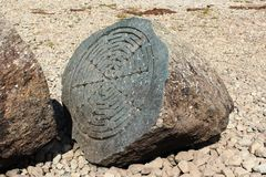 Centenary Stone, Derwent Water, (National Trust) Stock Photos
