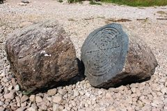 Centenary Stone, Derwent Water, (National Trust) Royalty Free Stock Images