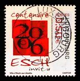 Centenary of the Town of Esch-sur-Alzette, Anniversary serie, circa 2006. MOSCOW, RUSSIA - AUGUST 18, 2018: A stamp printed in Luxembourg shows Centenary of the stock photos
