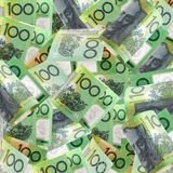 Centenas australianas Fotografia de Stock