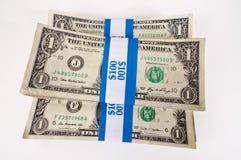 Centenas de dólares Foto de Stock Royalty Free
