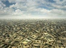 Centenas e anos 50 da paisagem do dinheiro Fotografia de Stock Royalty Free