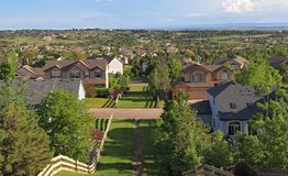 Centennial, Colorado - Denver Metro Area Residential Panorama royalty free stock images