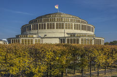 Centennial Hall Wroclaw. The Centennial Hall, a historic building in Wroclaw, Poland - autumn Royalty Free Stock Photos