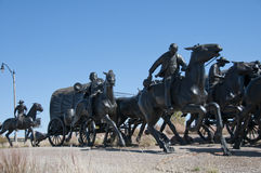 Centennial Land Run Monument. This is part of the Centennial Land Run Monument in bricktown oklahoma stock images