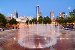 Centennial Olympic Park. 's landmark fountains in Atlanta, GA. The Park was built for the Centennial 1996 Summer Olympics and remains a popular destination Stock Photography