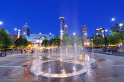Centennial Olympic Park. 's landmark fountains in Atlanta, GA. The Park was built for the Centennial 1996 Summer Olympics and remains a popular destination Stock Images
