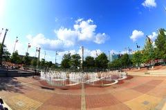 Centennial Olympic Park, Altanta, GA. Atlanta, Georgia, USA - August 18, 2017: Centennial Olympic Park. The park commemorates the 1996 Atlanta Olympics and is a Royalty Free Stock Image
