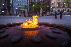Centennial płomienia & pokoju wierza w parlamentu budynku Fotografia Royalty Free
