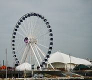 Centennial Wheel. This is an early Winter picture of the iconic Centennial Wheel at Navy Pier on Lake Michigan located in Chicago, Illinois in Cook County. This royalty free stock photos