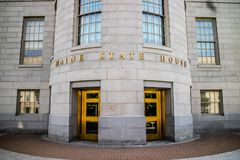 The center of administration in Augusta State Capital, Maine royalty free stock photo