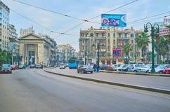 The center of Alexandria, Egypt Stock Photos