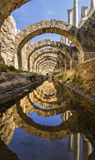 At the center of the ancient city of Smyrna Agora,. stock image