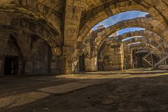At the center of the ancient city of Smyrna Agora,. royalty free stock images
