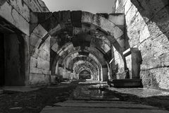 At the center of the ancient city of Smyrna Agora,. stock photography