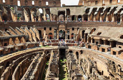 In center of arena in ancient Coliseum Royalty Free Stock Photos