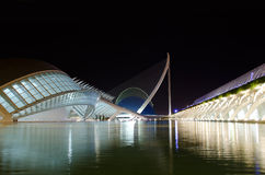 Center of Arts and Science in Valencia, Spain. Night photo of the City of Arts and Science in Valencia, Spain Royalty Free Stock Photos