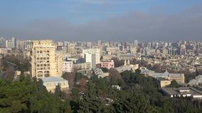 Center of Baku on December day. Azerbaijan. Center of modern Baku on December day. Azerbaijan stock video