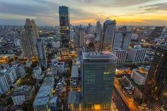 Center of Bangkok sunset Stock Photography