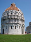 In the center the baptistery located on the Piazza del duomo Stock Photo