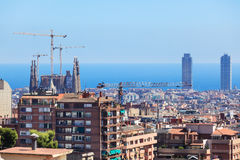 The center of Barcelona Stock Photography