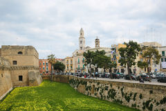 Center of Bari, Italy, with the tower of Bari Cathedral Royalty Free Stock Photo