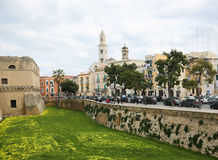 Center of Bari, Italy, with the tower of Bari Cathedral Stock Photography