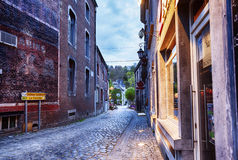 Center of  belgian town Durbuy Stock Images