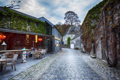 Center of  belgian town Durbuy Stock Photo
