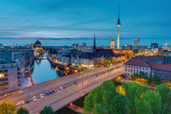 The center of Berlin at dusk Royalty Free Stock Photography