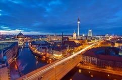 The center of Berlin at night Stock Photos