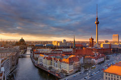 The center of Berlin at sunset royalty free stock photography