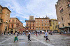 center of Bologna Stock Photography