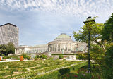 Center of Botanique garden Royalty Free Stock Images