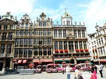 Center of Brussel. Brussels has grown from a 10th-century fortress town founded by a descendant of Charlemagne to a sizeable city.The city has a population of 1 Royalty Free Stock Photography